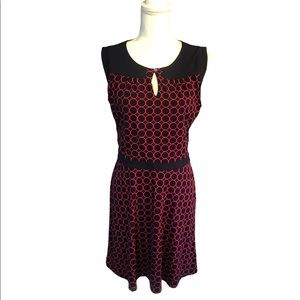 41 Hawthorne Navy Blue and Hot Pink Dress M